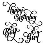 Set numer jeden dla urodziny ilustracja wektor