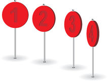 Set of numeral pins. Vector illustration Royalty Free Stock Photography