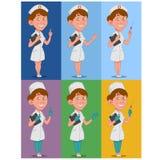 Set of nurses Stock Photos