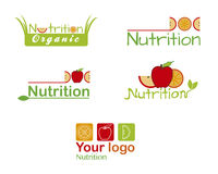 Set nutrition logos - fruit Stock Photography