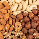 Set of nuts in basket Royalty Free Stock Image