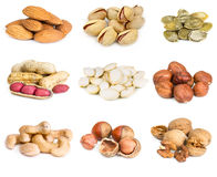 Set of nuts Stock Photo