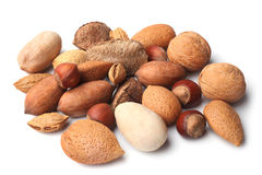 Set of nuts Royalty Free Stock Photos