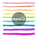 Set ołówkowi uderzeń muśnięcia Fotografia Stock