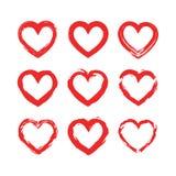 Set o hearts icons. Vector illustration. Heart Stock Photos