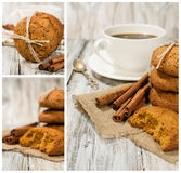 Set with oatmeal cookies and coffee Stock Photo
