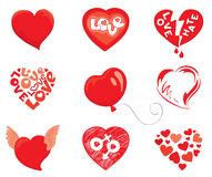 Set object -- hearts. Vector Icons - a set of abstract hearts Stock Photography