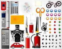 Set of objects   Stock Images