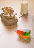 Set of objects for bathing Stock Photography