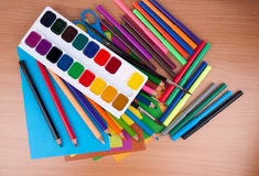 Set of objects for child's creation Royalty Free Stock Photography