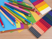 Set of objects for child's creation Stock Images