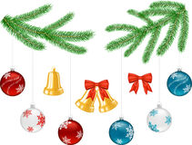 Set of objects for Christmas decorations Stock Image