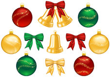 Set of objects for Christmas decorations Royalty Free Stock Images