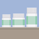 Set of objects. Set of cosmetics jars, cream, flat design Stock Photography
