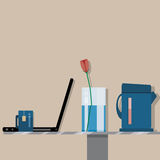 A set of objects. Flat design Stock Photography