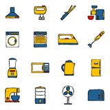 Set of objects in hand drawn cartoon style on home Stock Images