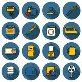 Set of objects in hand drawn cartoon style on home Royalty Free Stock Photography