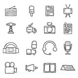 Set of objects in hand drawn catroon style on Royalty Free Stock Photo