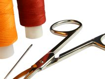 Set of objects for needlework Stock Photography
