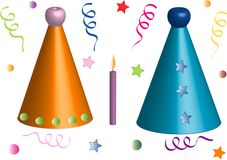 Set objects party Royalty Free Stock Photography