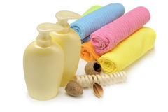 Set of objects for personal hygiene. It is isolated on a white background Stock Image
