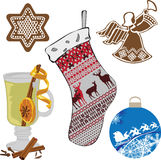 A set of objects representing the new year Stock Images
