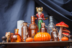 Set of objects to celebrate halloween Stock Photos
