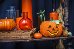 Set of objects to celebrate halloween. A set of objects to celebrate halloween Royalty Free Stock Photography