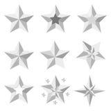 Srebro gwiazdy royalty ilustracja