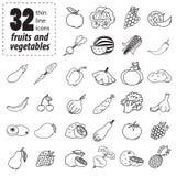 Set Obst und Gemüse Lizenzfreies Stockfoto