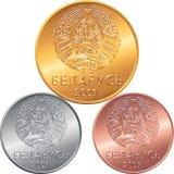 Set obverse new Belarusian Money coins Stock Photos