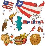Set obywatela profil America royalty ilustracja