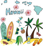 Set obywatela profil Hawaii Zdjęcie Royalty Free