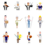 Set of occupation icons Royalty Free Stock Image