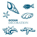 Set of ocean decoration Stock Photography
