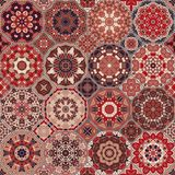 Set of octagonal and square patterns. Set of octagonal and square ornaments. Decorative and design elements for textile, book covers, manufacturing, print, gift royalty free illustration
