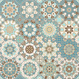 Set of octagonal and square patterns. Stock Photos