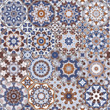 Set of octagonal and square patterns. Royalty Free Stock Image