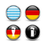 Set of Octoberfest buttons Stock Images
