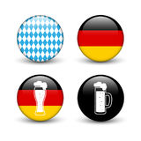 Set of Octoberfest buttons Royalty Free Stock Images