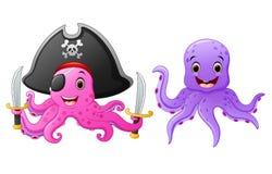 Set of octopus cartoon Royalty Free Stock Photography
