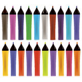 Set od Colorful Markers Stock Photography