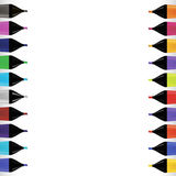 Set od Colorful Markers Stock Photos