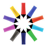 Set od Colorful Markers . Office Tools. Royalty Free Stock Photography