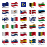 Set od European Union country flags Royalty Free Stock Image