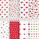 Set od floral seamless patterns Royalty Free Stock Images