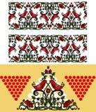 Set oder ornates in der russischen Art stock abbildung