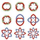 Set odosobneni graficzni symbole zdjęcie stock