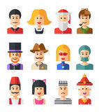 Set odosobneni płascy projekt ikony avatars ludzie Fotografia Royalty Free