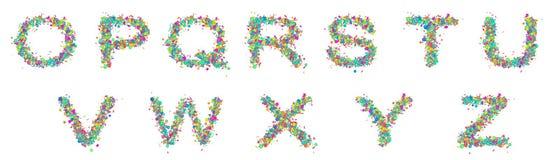 Set odosobneni stubarwni zabawa listy zdjęcie royalty free